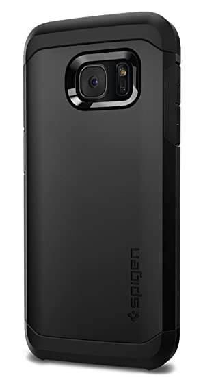 wholesale dealer de20f df70e Spigen Tough Armor Galaxy S7 Case with Extreme Heavy Duty Protection and  Air Cushion Technology for Samsung Galaxy S7 2016 - Black