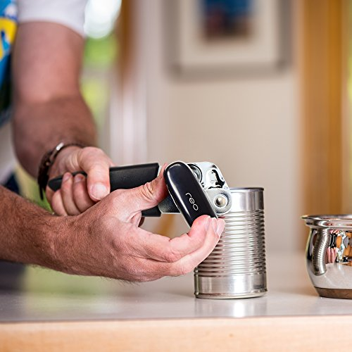 Manual Can Opener, Easy Tin Opening Tool - Heavy Duty Commercial Sharp Edge Stainless Steel Metal Blades, Great for Seniors and the Arthritic - Long Lasting Safety, Smooth Operation by Reo by Reo (Image #5)