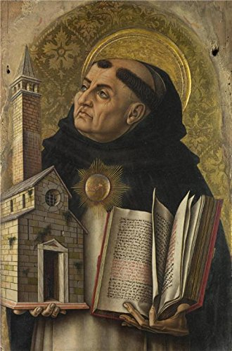 Thomas Aquinas Costume - The Perfect Effect Canvas Of Oil Painting 'Carlo Crivelli - Saint Thomas Aquinas,1476' ,size: 30x46 Inch / 76x116 Cm ,this Replica Art DecorativePrints On Canvas Is Fit For Laundry Room Decor And Home Decor And Gifts