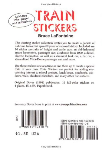 Train Stickers (Dover Little Activity Books Stickers) by Dover (Image #1)