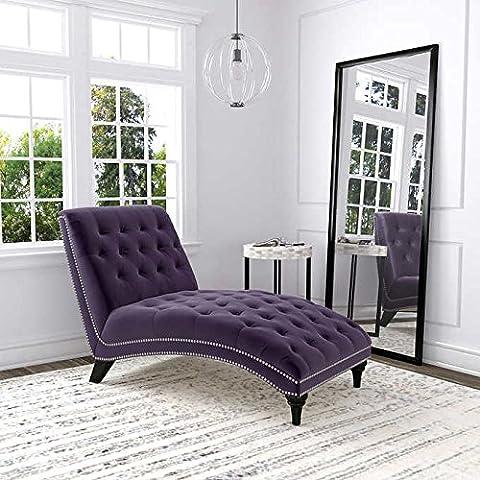 Ursula Fabric Chaise Lounge - Purple (Chaise Purple)