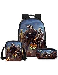 Anime fortnite battle royale Print Backpacks pencil case 3 PCS/SET school backpack for kids