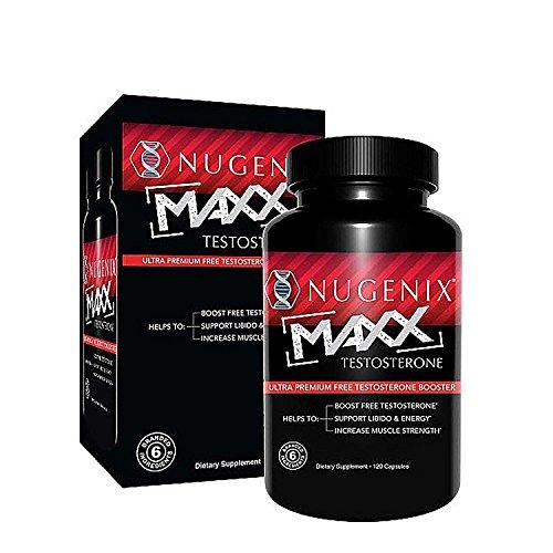Nugenix Maxx Testosterone - Ultra Premium, Hardcore Mens Testosterone Booster, Clinically Validated - 120 Capsules