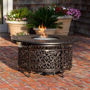 Bon Fire Sense, Sedona Cast Aluminum LPG Round Fire Pit Water Resistant Fire Pit  Cover