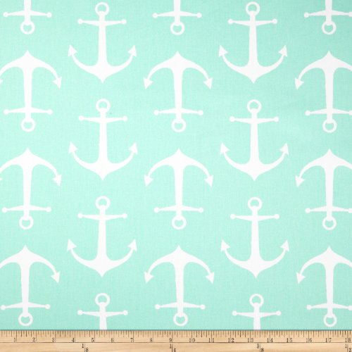 Premier Prints Sailor Twill Mint Fabric By The Yard (Anchor Premier)
