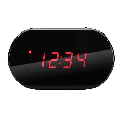 Excelvan - Radio despertador digital con pantalla LED (FM, Alarma, Reloj, Control