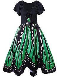 Women's Casual Plus Size Dress Butterfly Print Dress XL-5XL