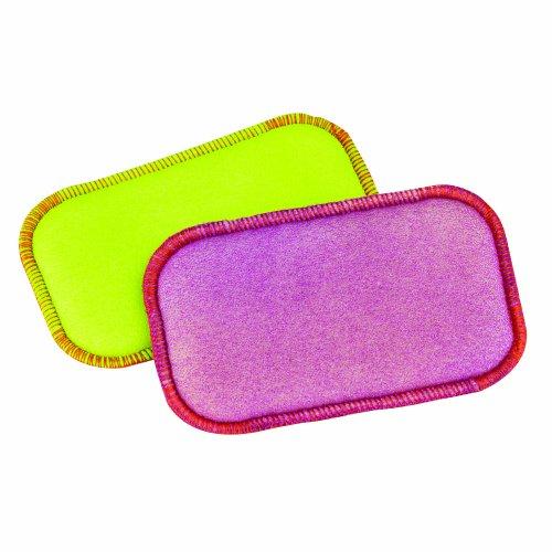 Foam Scrub (Casabella 2-Pack 2-in-1 Super Foam and Scrub Sponge, Lime/Orange and)