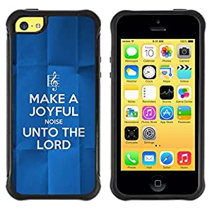 Fuerte Suave TPU GEL Caso Carcasa de Protección Funda para Apple Iphone 5C / Business Style BIBLE Unto The Lord