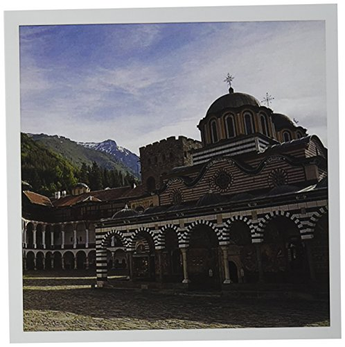 3dRose Rila Monastery, UNESCO World Heritage site, Romania - EU05 KSU0015 - Keren Su - Greeting Cards, 6 x 6 inches, set of 6 - Sites Romania