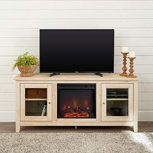 Walkeredison Furniture 58 Wood Media Tv Stand Console With