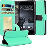 HTC One A9 Case, TAURI [Stand Feature] Wallet Leather Case with Stand, ID & Credit Card Pockets Flip Cover Protective Case For HTC One A9 - Mint