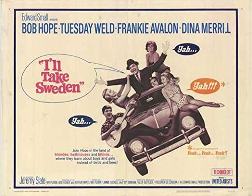 I'll Take Sweden POSTER Movie (1965) Style A 11 x 14 Inches - 28cm x 36cm (Bob Hope)(Tuesday Weld)(Frankie Avalon)(Dina Merrill)(Jeremy Slate)(Walter Sande)(John Qualen) (Bob Merrill)