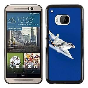 Slim Design Hard PC/Aluminum Shell Case Cover for HTC One M9 FA fighter / JUSTGO PHONE PROTECTOR