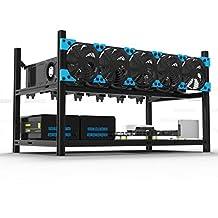 Veddha 6 GPU Minercase V3C Aluminum Stackable Mining Rig Open Air Frame Case (BlackStorm)