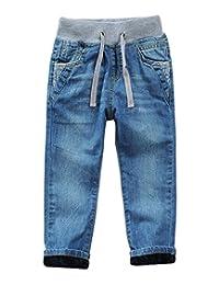 DUOCAI Big Boys Toddler Kids Pure Cotton Denim Jeans Pants Size 4T 5T 6 8-14