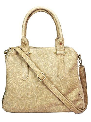 Leather Triple Compartment Laptop Bag (Zzfaqb Real Leather Feel Triple Compartments Satchel laptop bag messenger bag)