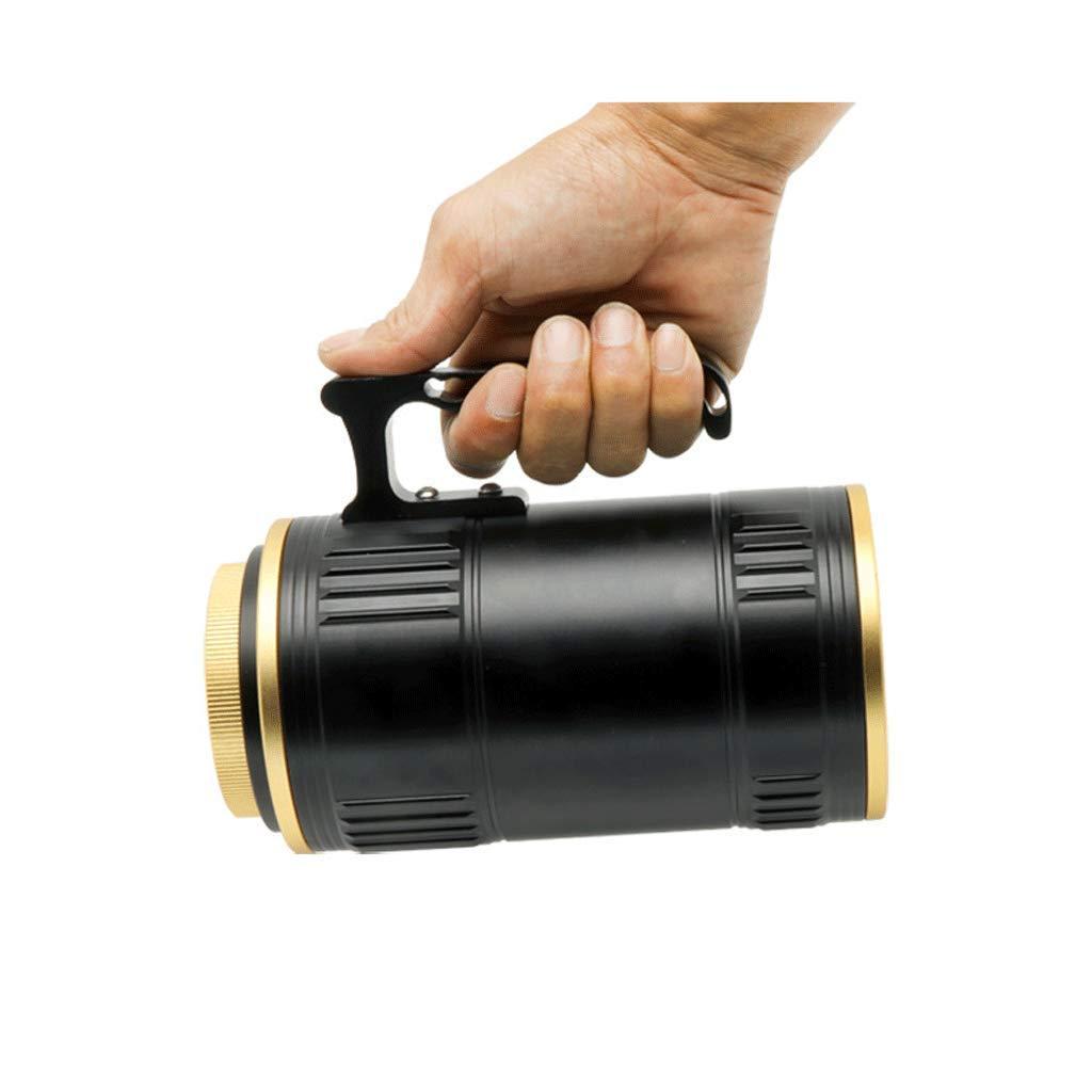 Angel Lampe, Nachtlicht Suchscheinwerfer Scheinwerfer LED Camping Patrol Taschenlampe Quelle Blendung Zoom Blau Weiß Gelb Lila 80W High Power (größe : A)