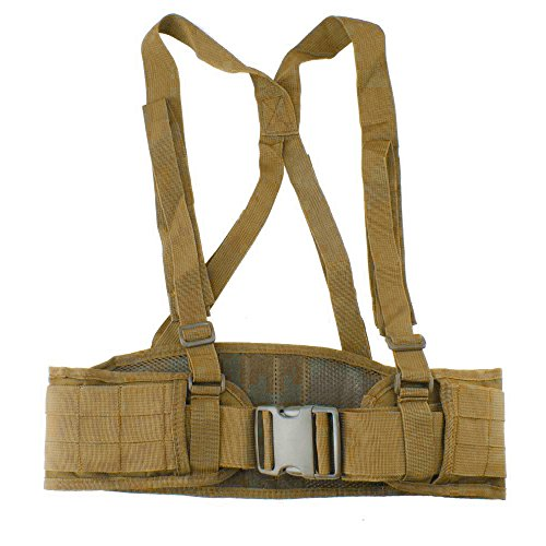 VC-Time Tactical Belt , Strap Tactical Waist Belt , Adjustable Security Tactical Belt For Hunting Equipment and Outdoor Activity (Khaki)