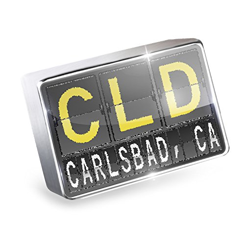 Air Cld (Floating Charm CLD Airport Code for Carlsbad, CA Fits Glass Lockets, Neonblond)