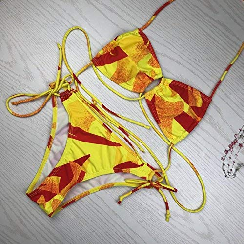 Dimensione Bikini Donna Tuta Verde Qiusa fashion Bikini colore Gules Large Z4FqBT