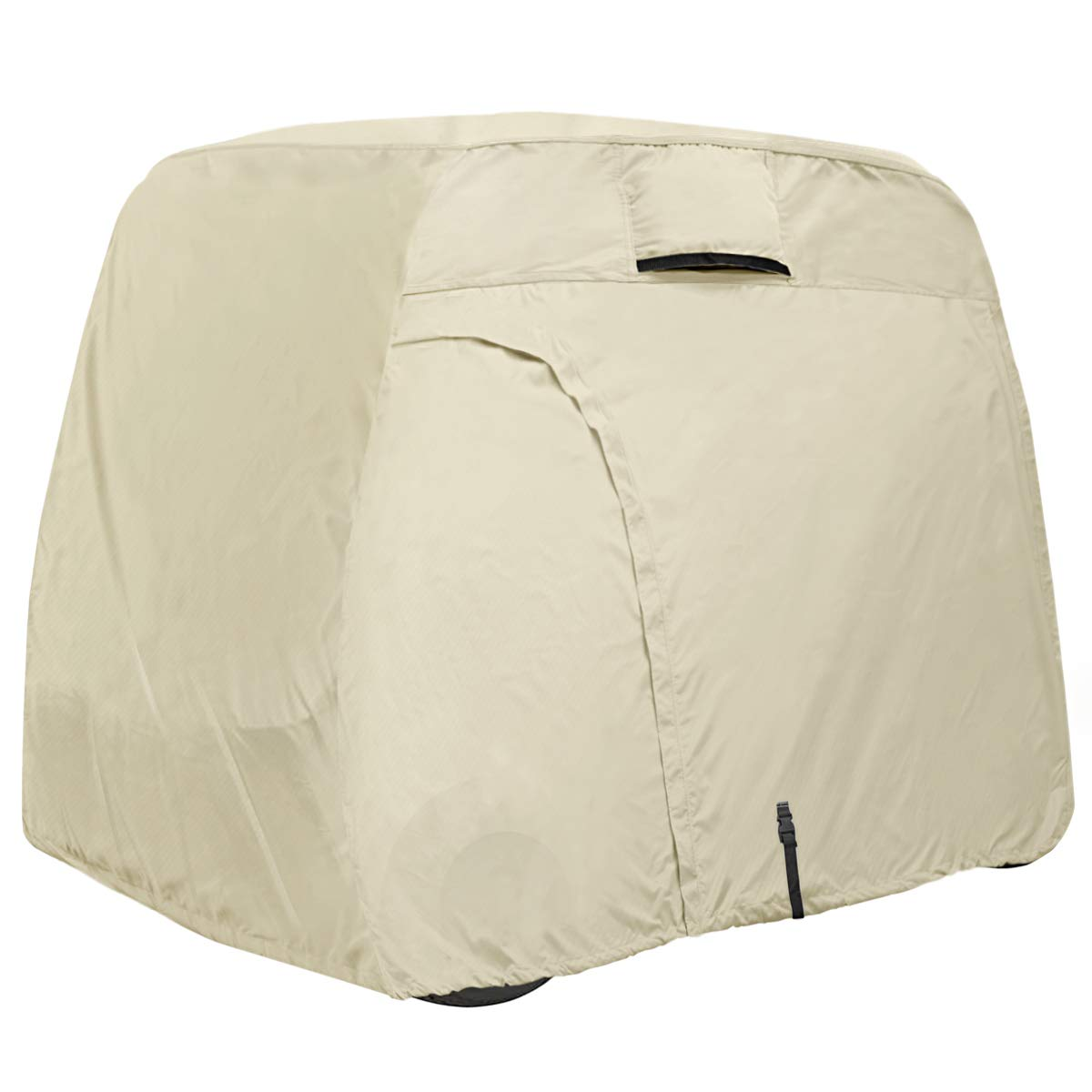 Explore Land 600D Waterproof Golf Cart Cover Fits for Most Brand 4 Passengers Golf Cart (Light Tan) by Explore Land