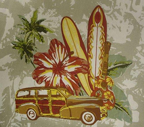 amazoncom no boundaries studebaker hawaiian surfing cotton shower curtain 72 x 72 inch home u0026 kitchen