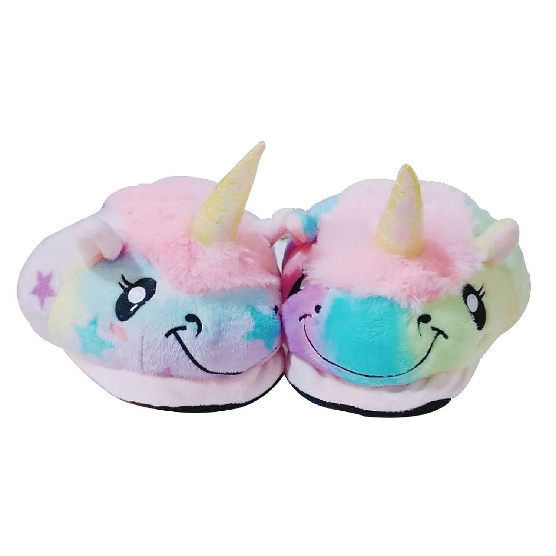 Missley Bedroom Star Unicorn Slippers Cute Unicorn Slippers Cartoon Sheep  Plush Unicorn Slippers (Onesize) (Onesize, Star): Amazon.co.uk: Shoes & Bags