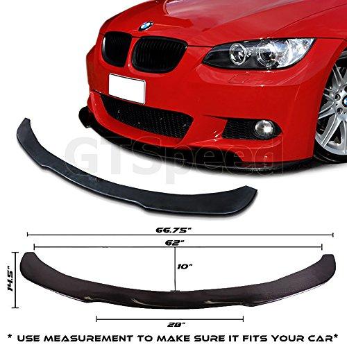 Universal Front Bumper Lip Flat Under Panel Splitter Plate Diffuser E90 E92 (MEASURE your bumper BEFORE purchase: 66.75