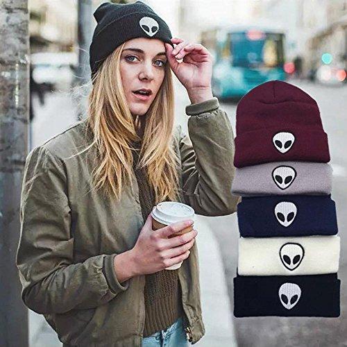 Unisex Negro Cap Beanie PAWACA nbsp;color cálido nbsp;– Estándar sombreros punto sólido Blanco Cap de acrílico ATqndgnW