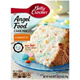 Betty Crocker Baking Mix, Fat Free Angel Food Cake Mix, Confetti, 16.75 Oz Box (Pack of 12)