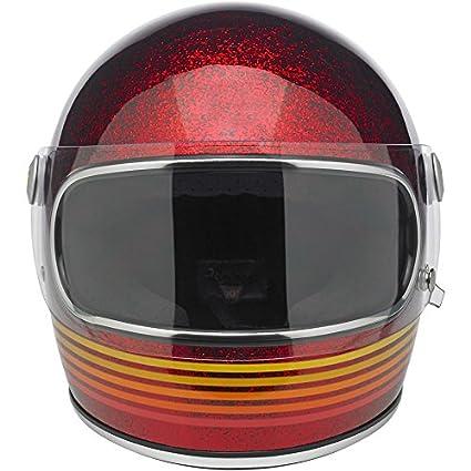 Amazon.es: Casco para moto, Gringo S Le Spectrum, color rojo purpurina L rojo