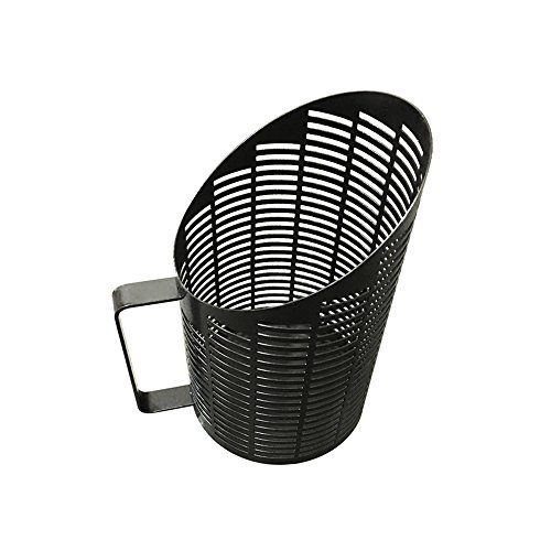 Nextstep Steel Wood Pellet Basket, Home Fireplace Pellet Container with Handle,No Need Assemble,Black