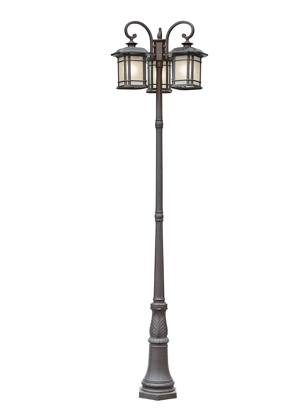 Amazon Com Trans Globe Lighting Pl 5827 Rt Outdoor San Miguel 99 5 Pole Light Rust Mission Post Lantern Patio Lawn Garden