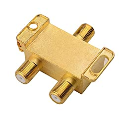 Cable Matters 2-Pack, Gold Plated 2-Way 2.4 Ghz Balanced Coaxial Splitter