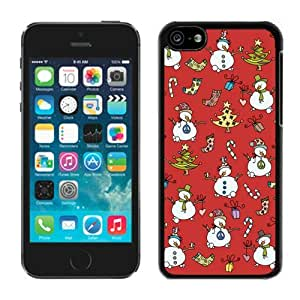 Provide Personalized Customized Iphone 5C TPU Case Christmas Snowman Black iPhone 5C Case 1