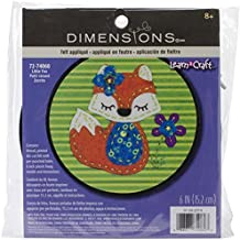 Dimensions Crafts 72-74060 Little Fox Felt Applique by Dimensions Crafts