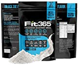 FIT 365 Shake: Gourmet Meal Replacement Protein Shake - 14.1 Oz - 21 Grams Grass-Fed Whey Protein Per Serving - Live Probiotics (10 Billion CFU) - Non-GMO - Paleo and Keto Friendly