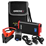 GREPRO Car Battery Jump Starter 500A Peak Jump Starter Battery Pack (Up to 4.5L Gas, 2.5L Diesel Engine) 12V Battery Booster, 9000mAh Portable Power Pack with Quick Charge and Built-in LED Flashlight