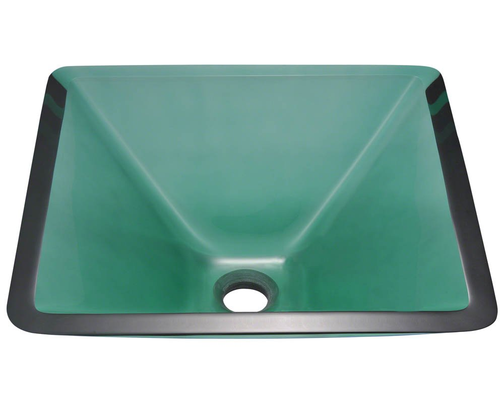 603 Emerald Coloured Glass Vessel Sink