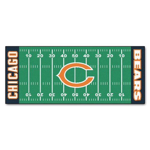 FANMATS NFL Chicago Bears Nylon Face Football Field Runner
