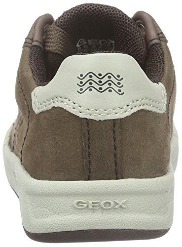 Geox J Rolk Boy D, Zapatillas para Niños Braun (Coffee/OFF WHITEC6243)