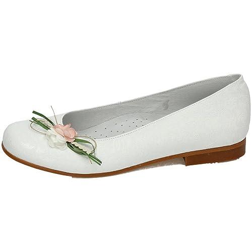 dbee9348e0b BAMBINELLI 1314437 Comunión Bambi Shoes Niña Zapato Comunión Blanco 37   Amazon.es  Zapatos y complementos