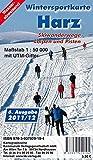 Wintersportkarte Harz: Maßstab 1:50 000