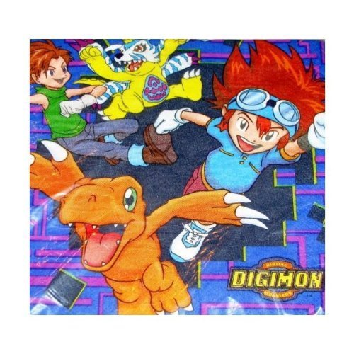 Digital Digimon Monsters Lunch Napkins (16 Count)