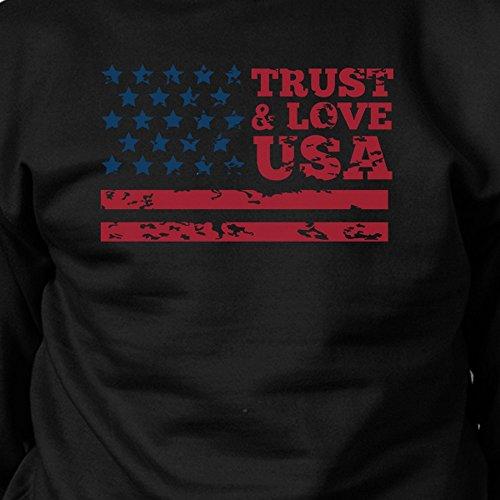 manga Printing Size 365 mujer larga Love Sudadera USA de para Trust One f7wOtqTtn