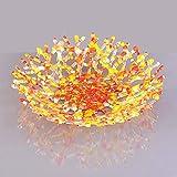 Modern Glass Art Coral Sculpture Fruit Bowl in