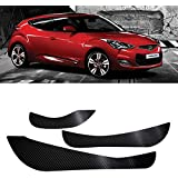 Carbon Door Protect Anti Scratch Cover Kick Decal Sticker Carbon Black For Hyundai 2011-2014 Veloster