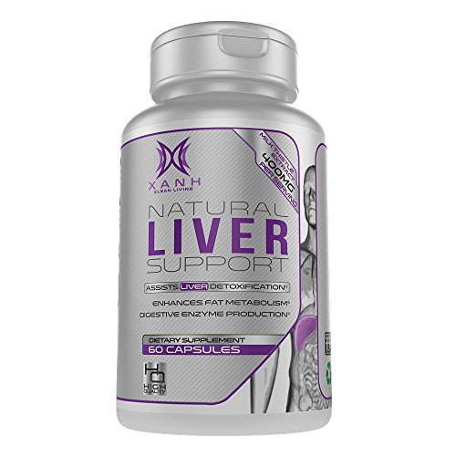 Xanh Liver Support Supplement – 22 Herbs Liver Cleanse Detox Pills | Herbal Vitamins with Milk Thistle Extract, Silymarin, Beet, Artichoke and Dandelion for Fatty Liver Health | 60 Veggie Capsules