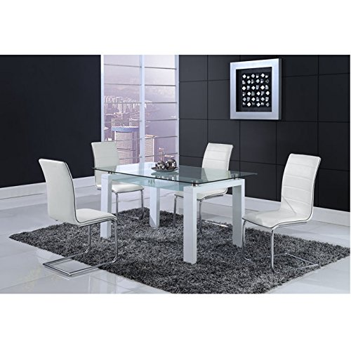 Price comparison product image Global Furniture Dining Table,  White